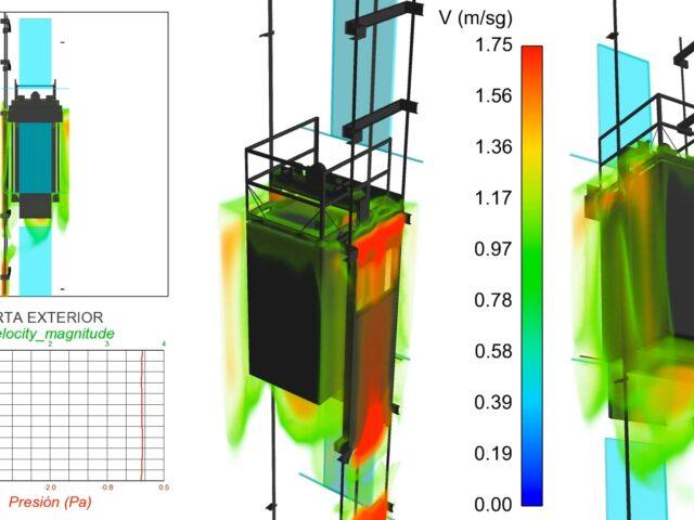 Cálculo evacuación aire cabina y hueco ascensor - Lucha COVID